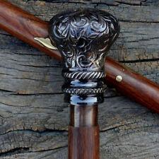 Antique ball Alus Handle Victorian king Design Wooden Walking Cane Stick Vintage
