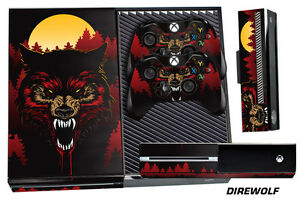 Skin for XBOX ONE 1 Console 2 Controller Graphics Sticker Wraps Decal DIREWOLF