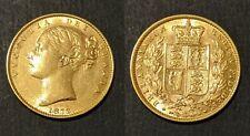 Great Britain 1872 Queen Victoria Shield Sovereign NO Die Number