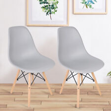 J&A Eiffel Inspired Dining Chair Comfy Office Lounge Chair Wood Leg PP Seat 2Pcs