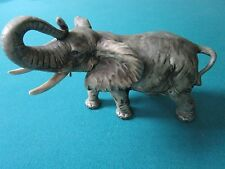 "Andrea By Sadek Ceramic AFRICAN ELEPHANT 6 1/2"" tall by 7 1/2"" [A]"