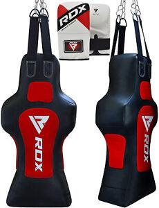 RDX Torso Dummy Heavy Punch Bag Grappling Body Slam Man Pads Boxing Gloves OS