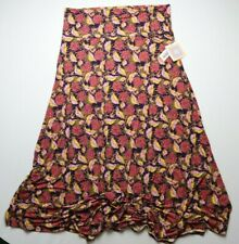 NEW LuLaRoe Maxi Skirt Size 2XL Floral Purple Yellow Orange Pink