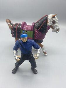 TMNT Movie III Samurai Feudal War Horse w/Rebel Soldier Ninja Turtles 1992