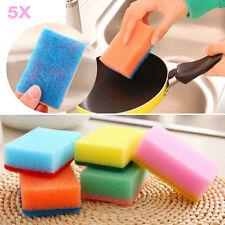 5pcs Candy Colors Washing Dish Cloth Wipe Brush Sponge Scouring Kitchen Tools