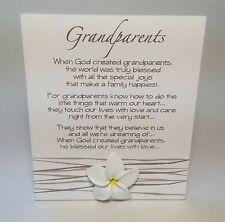 Splosh Grandparents Poem Plaque Sign Christmas Gift Ideas For Her, Nanna, Gran