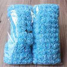 144x Mini Artificial Fake Rose Flower Plastic Bulk Wedding Party Decor Various