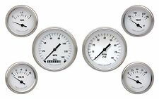 classic instruments white hot series wh01slf 6 gauge set speedo tach fuel oil