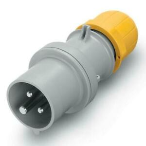 Scame Industrial Commando Plug Connector Socket 110V 16Amp Yellow 2P+E IP44