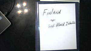 FINLAND AND ALAND ISLANDS COLLECTION IN ALBUM MINT/USED