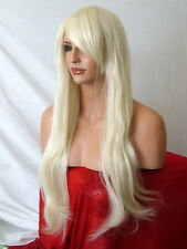 Blonde Wig Natural Fashion Long Wavy FULL WOMEN LADIES FASHION HAIR WIG E5