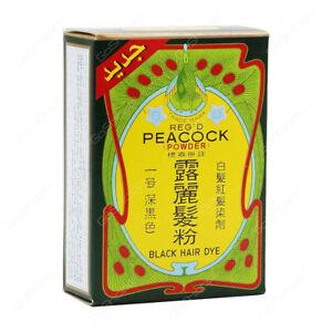 Peacock Powder Hair Dye Black NO.1 Natural Black