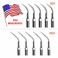 10X Dental Perio Tips GD1 GD3 Fit Satelec DTE Ultrasonic Scaler Handpiece U3MZ