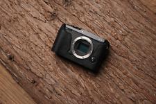 Genuine Real Leather Half Camera Case Bag Cover for FUJIFILM XE3 X-E3 Black