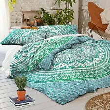 Indian Cotton Mandala Reversible Bedding Duvet Doona Cover Set Blanket Comforter