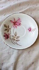 Newlyn Bone China Pink Roses Floral gold edge saucer 14cm dia