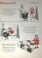 1956 Kleenex Tissue Vintage Print Ad Little Lulu Comic Pocket Pack