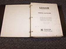 Thew Lorain MC-540A Crane Shop Service Repair Manual