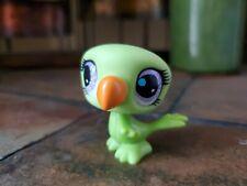 Authentic Littlest Pet Shop # 2777 Lime Green Toucan Bird Purple Eyes