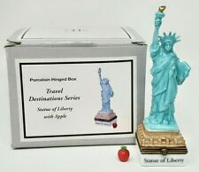 Midwest Cannon Fall Phb Porcelain Trinket Box Travel Nyc Statue Of Liberty Nip