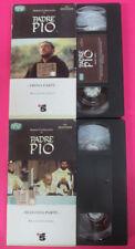 2 VHS film PADRE PIO Prima seconda parte Sergio Castellitto SORRISI(F181) no*dvd