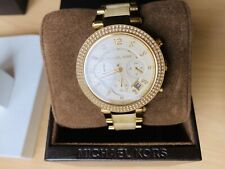 Michael Kors Gold Beige Watch With Crystals