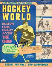 John Bucyk Autographed January 1972 Hockey World Magazinel W/ HOF-1981 Ins SGC