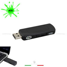 MINI REGISTRATORE AUDIO 8GB 140 ORE REGISTRAZIONE MICRO SPIA CIMICE PENDRIVE USB