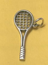 ❤JAMES AVERY RETIRED RARE HTF Sterling Silver Tennis Raquet Charm❤