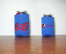 """""""Pepsi"""" Inspired 1 CanCooler Blue Double Sided w/red thread embroidered"""