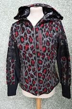 140/8 SPORTALM Damen Jacke Gr. 36 schwarz rot grau Fleece Softshell Mix Animal