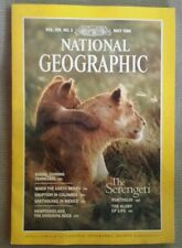 National Geographic magazine May 1986 Serengeti, Tennessee, Volcano, Earthquake