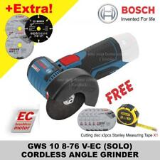 BOSCH GWS 10 8-76 V-EC (SOLO) CORDLESS ANGLE GRINDER (no charger & battery)