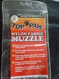 Top Paw Nylon Fabric Dog Muzzle, Size One