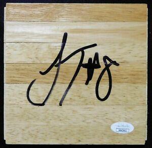 Jae'Sean Tate Houston Rockets Signed 6x6 Floorboard JSA Authenticated