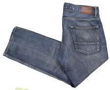 Quiksilver Blue Jeans 38x30 Straight Regular Medium Dark Whiskering Cotton Denim