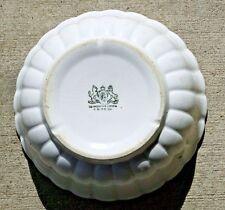 "Beautiful John Moses White Ironstone 8"" Lady Finger Scalloped Bowl 1900-1905"