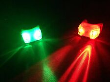 Portable Clamp On LED Green Red Navigation Marine Lights Boat Bow Safety Night