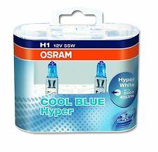 2 x Bombillas Osram Cool Blue Hyper H1 5000K Faros Halogeno Lamparas Luz Coche