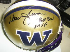 Autographed Warren Moon Washington Huskies Mini Helmet With 78 Rose Bowl MVP