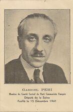 PHOTO GABRIEL PERI MEMBRE DU PARTI COMMUNISTE FRANCAIS FORMAT 8 x 12 cm