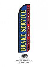 BRAKE SERVICE SHOCKS STRUTS SUSPENSION Windless Full Curve Top Banner Flag