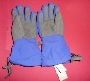 The North Face Girls Montana Alpine Gloves Size S Blue + Gray NEW
