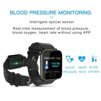 Color Screen Smart Watch Heart Rate Blood Pressure Monitoring Fitness Tracker