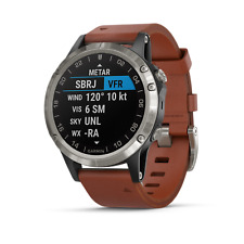 Garmin D2 Delta - Black with Brown Leather Band - GPS