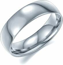 Luxe 6mm Brushed Steel Mens Wedding Ring Band Size 9 Butch Bands Alpha