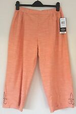 Cathy Daniels PXL pull-on Capri Pants ~ NWT ~ MSRP $44.00~ Melon