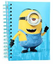 Minions Stuart Ring Binder Notebook with Light Up Cover & Stuart Laughing Sound