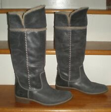 WOMENS GRAY TIMBERLAND EARTHKEEPERS SHOREHAM FOLD DOWN LEATHER BOOTS 6.5 / 37.5