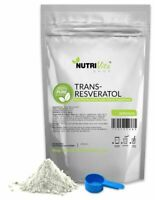 NVS NEW 100% PURE Trans Resveratrol Anti-Aging Powder KOSHER NONGMO ORGANIC USA